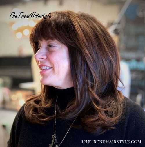 Medium To Long Hairstyle For Women Over 50