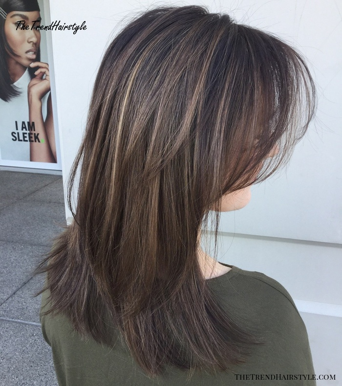 Medium To Long Layered Blowout Hairstyle
