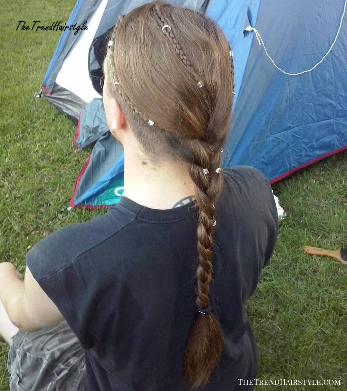 Men's Long Braided Hairstyle