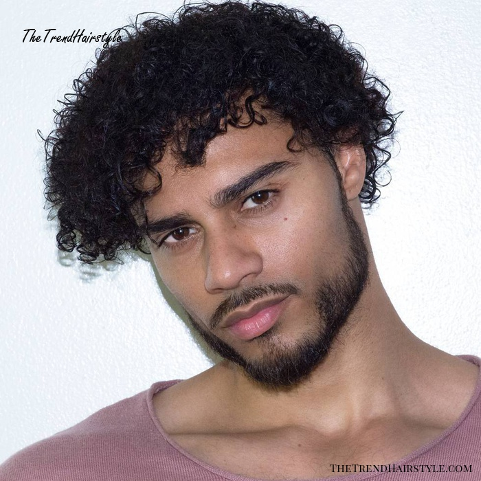 Men's Medium Natural Curly Hairstyle
