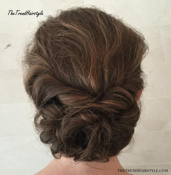 Messy Low Updo