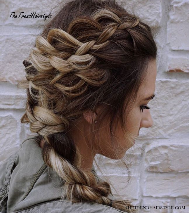 Messy Side Braided Hairstyle