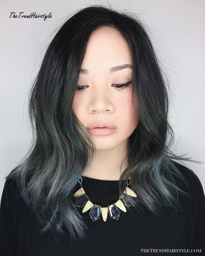 Mid-Length Asian Textured Haircut