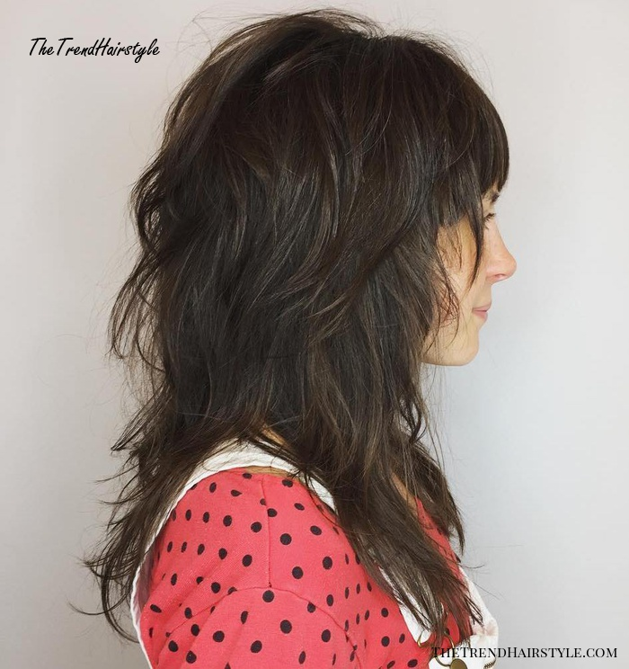 Mid-Length Layered Cut With Bangs