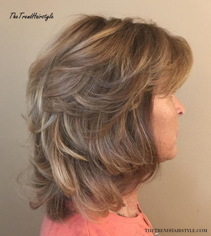 Mid-Length Layered Tousled Hairstyle