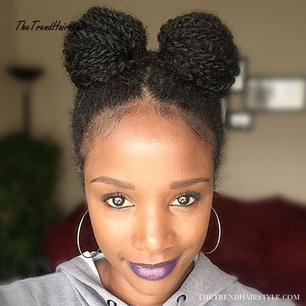 Minnie Mouse Buns For Natural Hair