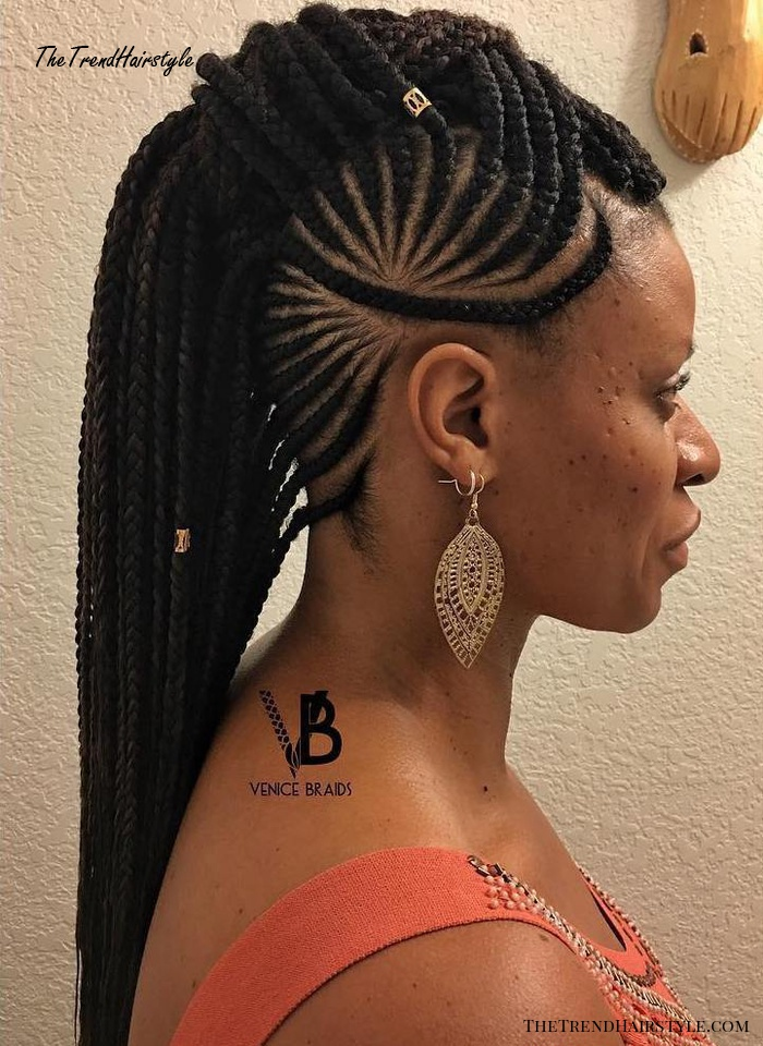Mohawk Braid With Beads