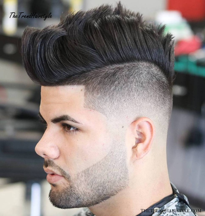 Mohawk With Lineup For Thick Hair