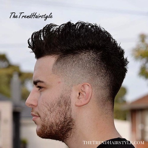 Mohawk with side fade for men
