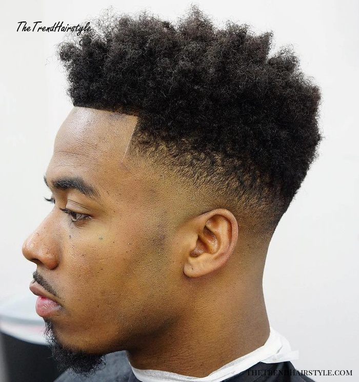 Natural High Top Fade With Line Up