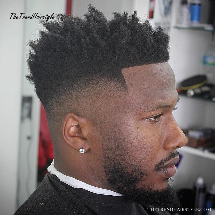 Natural Long Top Skin Fade