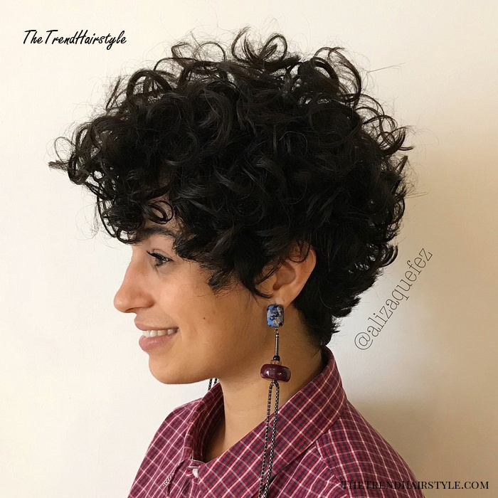 Naturally Curly Pixie Hairstyle