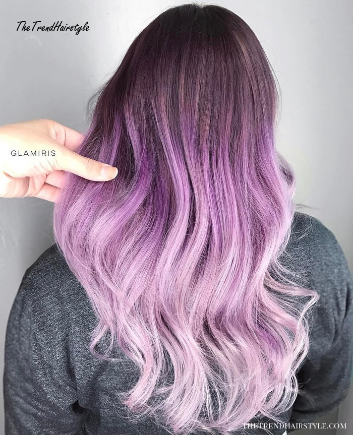 Pastel Purple Ombre Hair