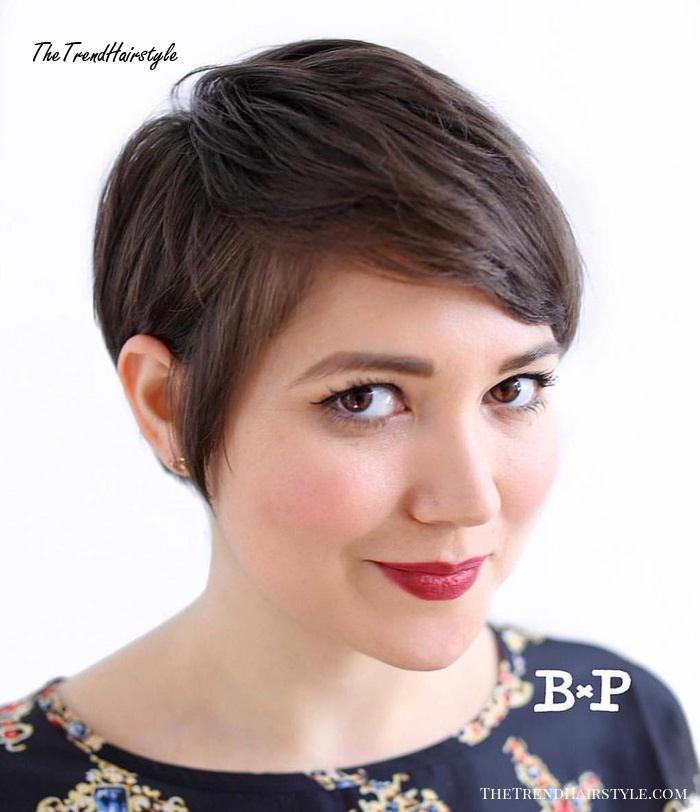 Neat Pixie for Gamine Girls - 50 Cute Looks with Short Hairstyles for Round Faces - The Trending ...