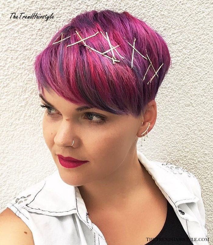 Pixie Cut With Bobby Pins