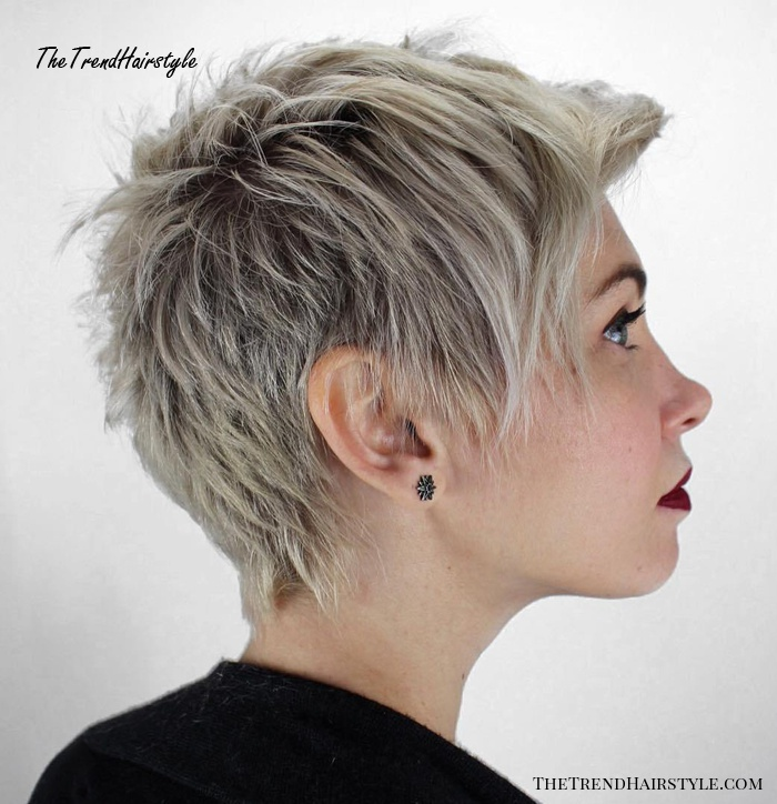 Platinum Tipped Cut with Scruffy Layering