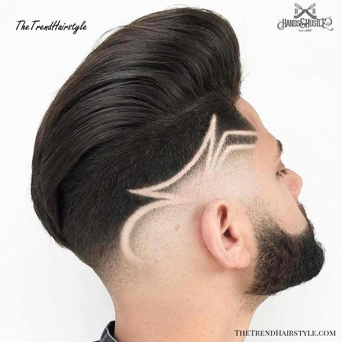Pompadour With Shaved Sides