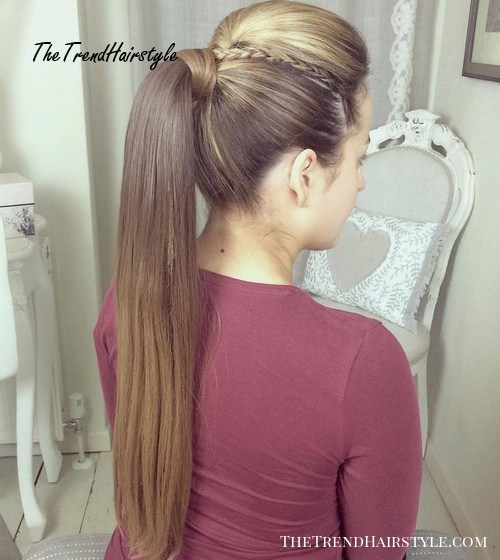 Ponytail With A Bouffant For Long Straight Hair