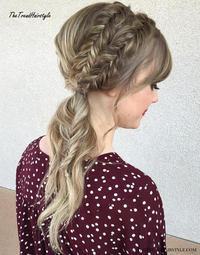 Ponytail With Two Braids