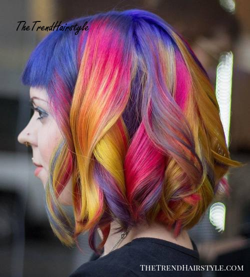 Rainbow Lob With Bangs