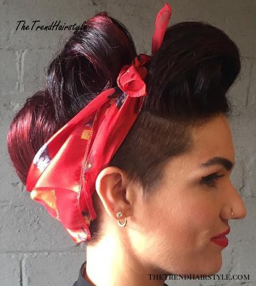 Messy Updo With A Romantic Twist