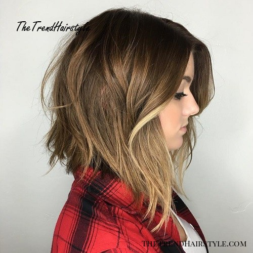 Choppy And Wavy Lob 60 Inspiring Long Bob Hairstyles And Long Bob Haircuts For 2019 The Trending Hairstyle