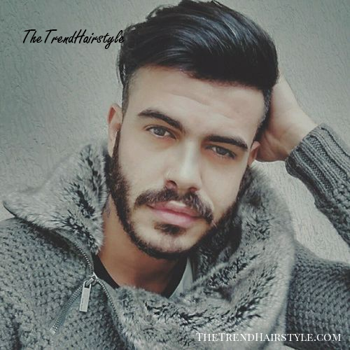 Shaved sides long top hairstyle for men