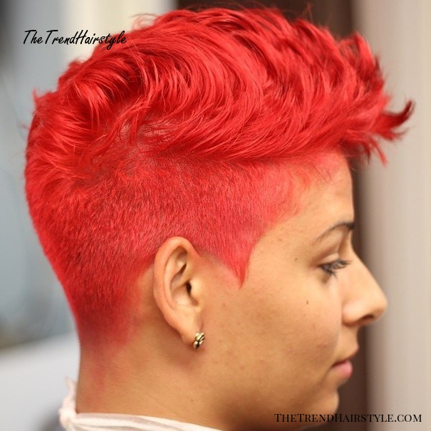 Short Bright Red Hairstyle