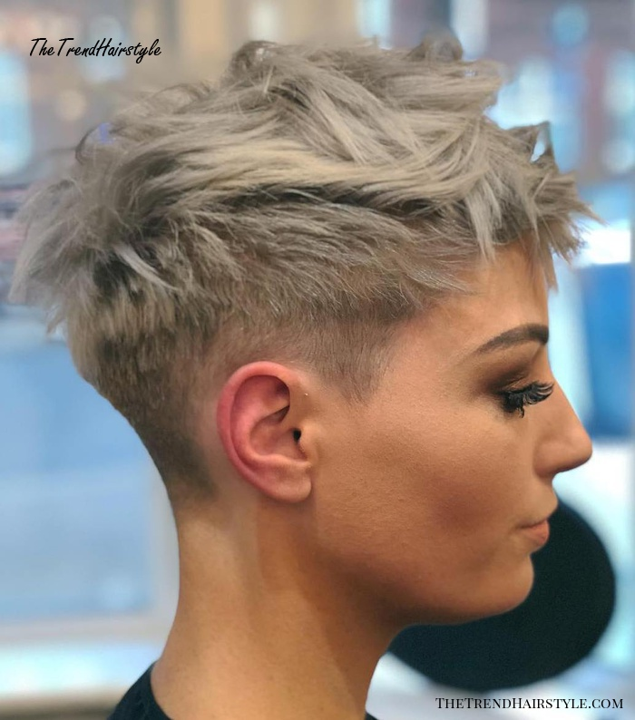 Icy Short Pixie Cut , 60 Cute Short Pixie Haircuts