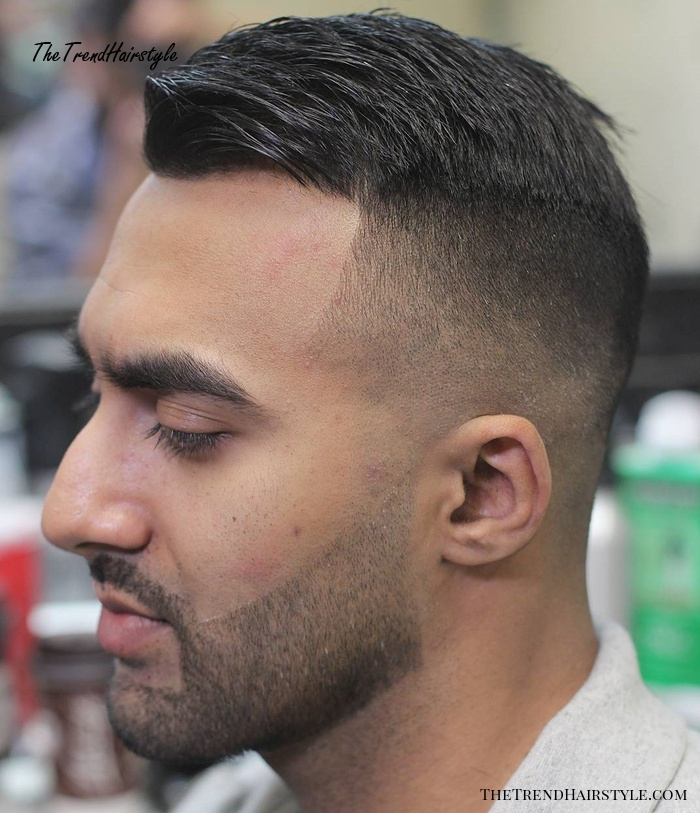 Short Combover With Fade