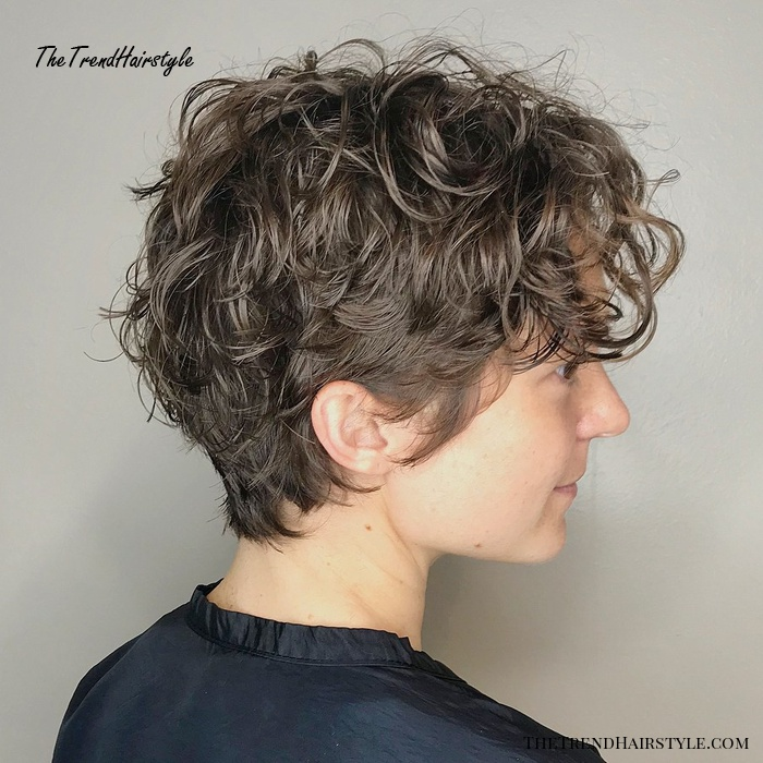 Short Curly Hairstyle For Girls