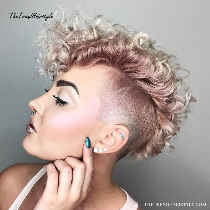 Short Curly Undercut Hairstyle