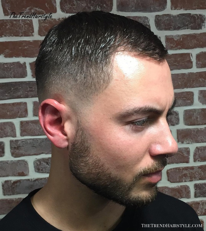 Short Cut With Fade For Receding Hairline
