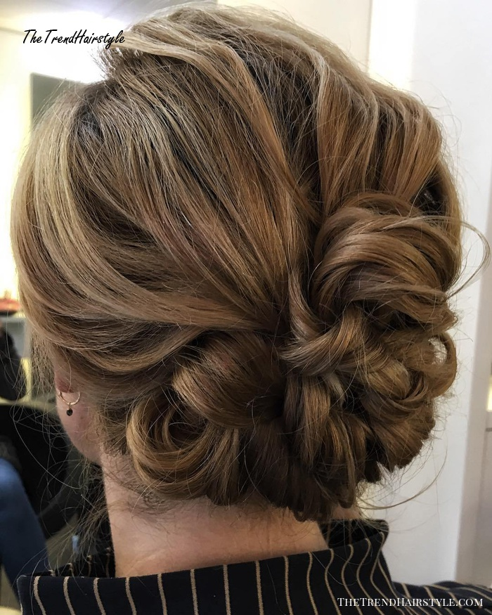 short messy updo with headband braid  60 gorgeous updos