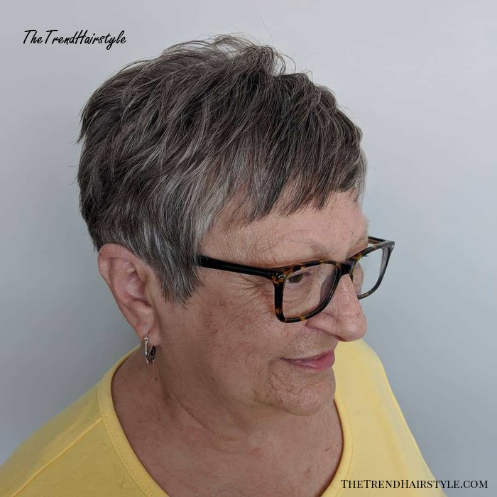 Short Layered Haircut for Older Women