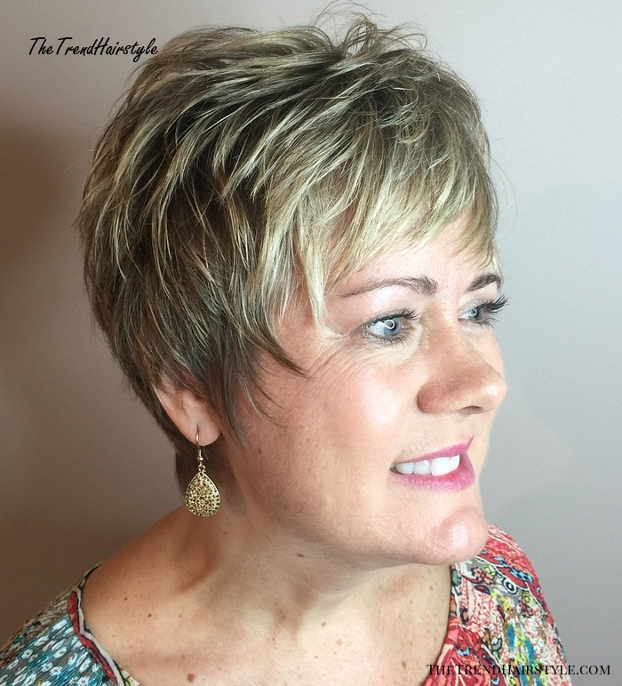 Short Layered Pixie Over 50