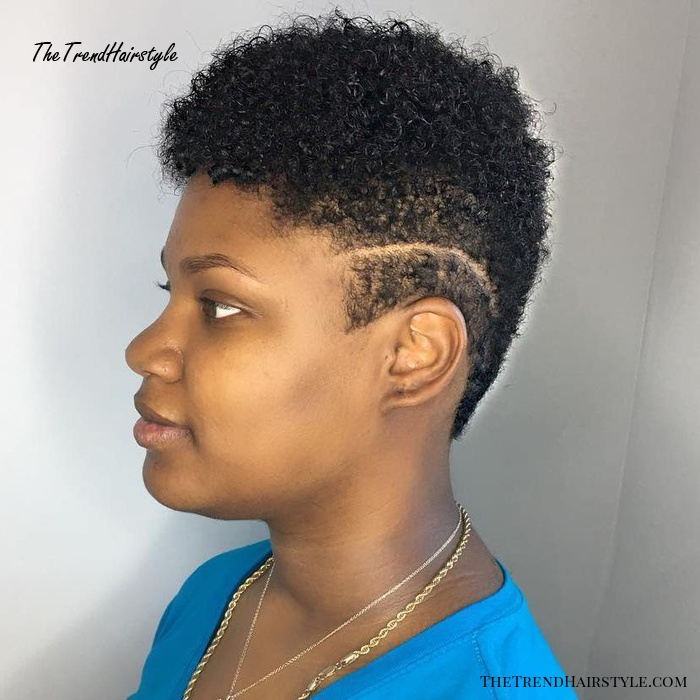 Short Natural Cur With Side Undercuts