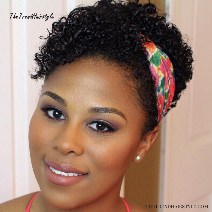 Short Natural Hairstyle With Headband