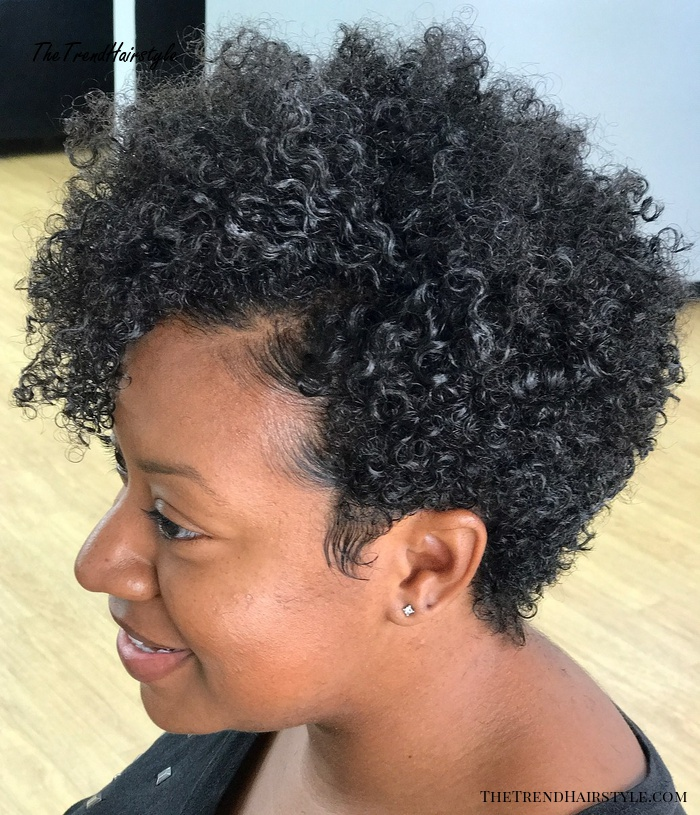 Short Natural Hairstyle With Sleek Edges
