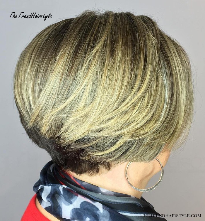 Short Stacked Bob Over 50
