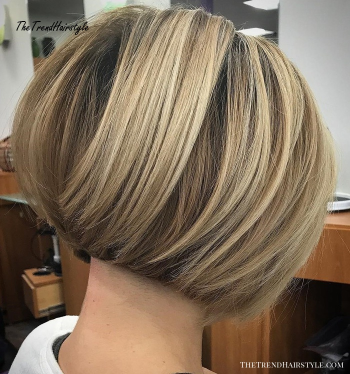 Voluminous Nape-Length Inverted Bob - 60 Classy Short Haircuts and Hairstyles for Thick Hair ...