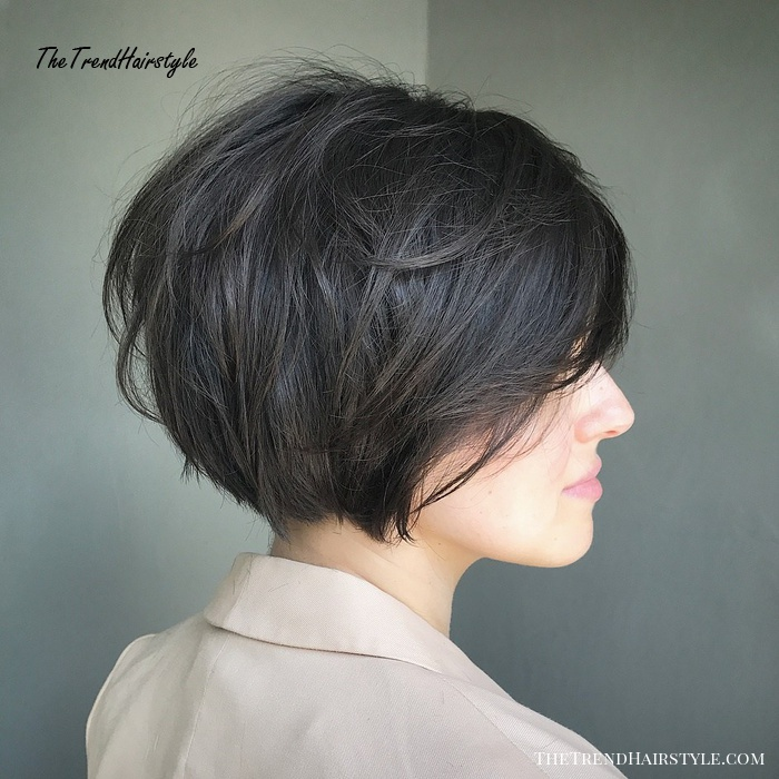 Short Tousled Bob with Side Bangs