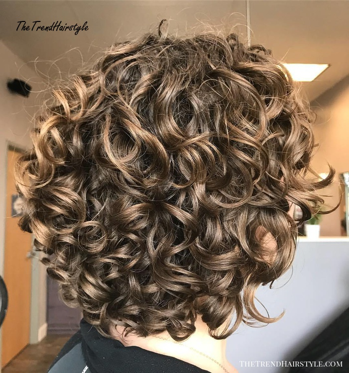 Shorter Rounded Curly Hairstyle