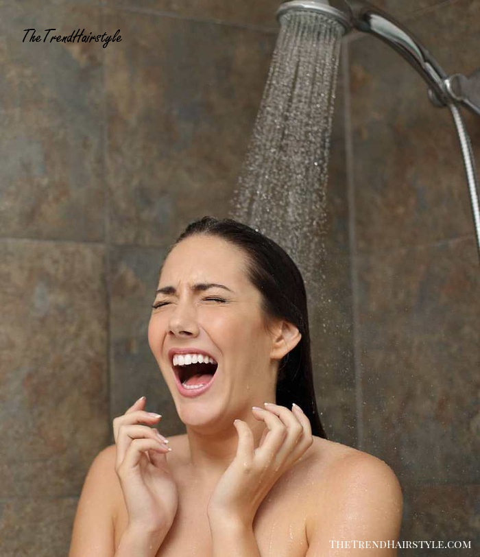 Showering With Hot Water