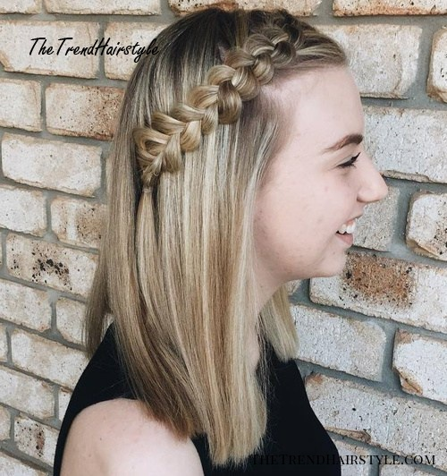 Side Dutch Braid For Long Hair