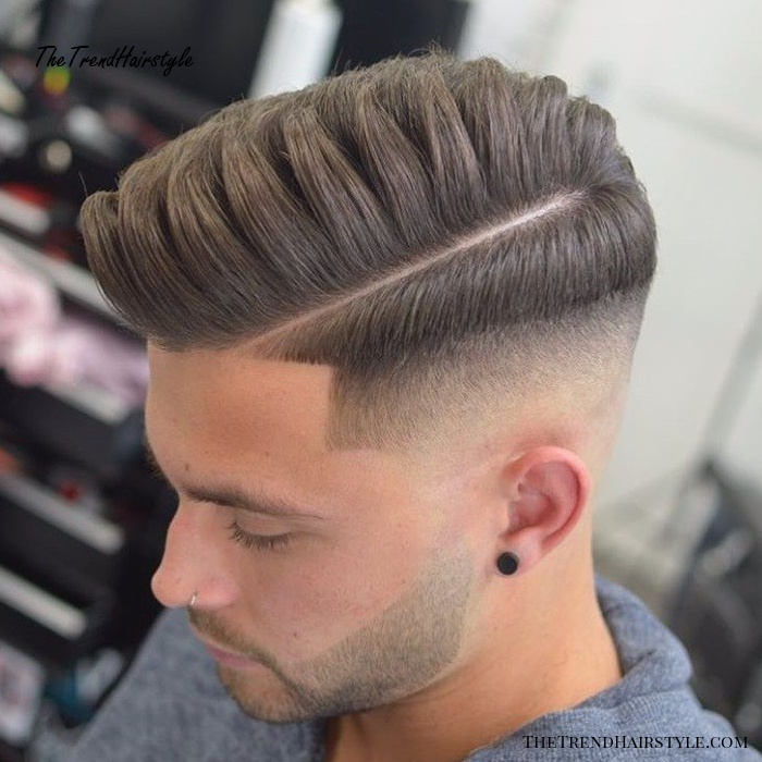 Side Part with Short Sides