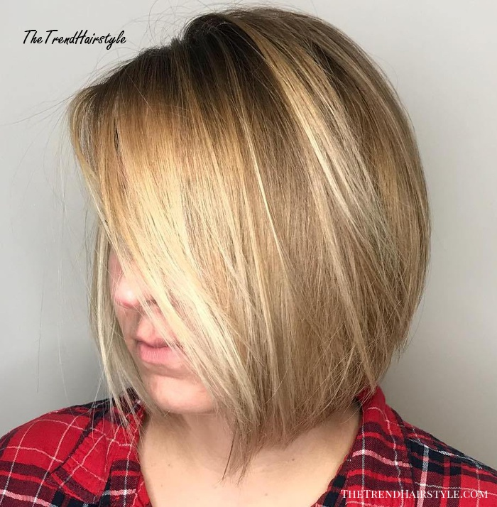 Side-Parted Bob For Fine Hair