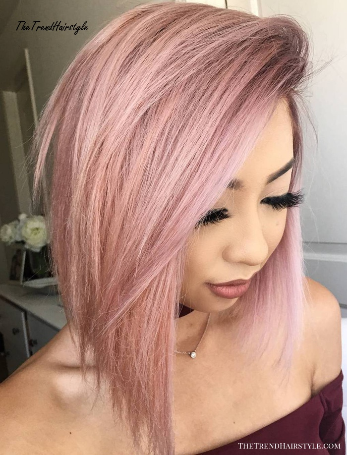 Side-Swept Layered Bob For Straight Hair