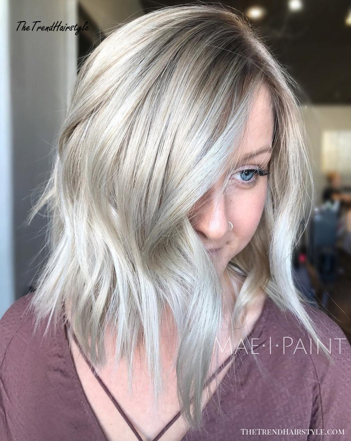 Silver Choppy Layered Lob