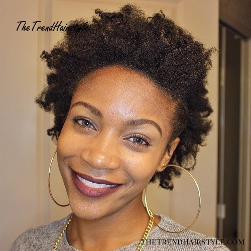 Simple Short Natural Hairstyle
